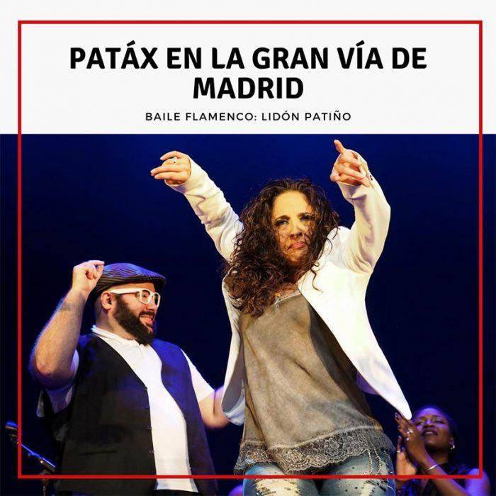 Patáx en la Gran Vía de Madrid